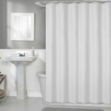"New Titan 70"" x 72"" Waterproof Striped Fabric Shower Curtain Liner White & Linen"