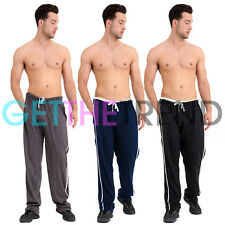 Mens Pyjamas Pants Trousers Plus Size Full Length Pyjamas Cotton Casual Trouser