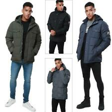 Threadbare Mens Bank Padded Jacket Casual Hooded Warm Puffer Downs Winter Coat