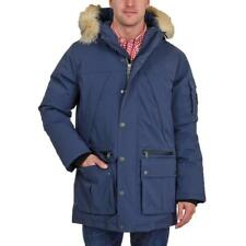 Pajar Canada Benny Mid Length Parka Fur Coat Navy Men SZ M - 2XL Retail $795