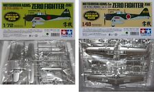 Tamiya 1/72 or 1/48 'Silver Colour Plated' Zero Fighter (Zeke) Mitsubishi A6M5