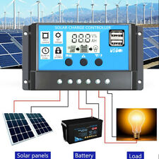 10/2030A Solar Charger Controller Dual USB Battery Charge Regulator Panel 12/24V