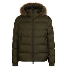 New AW18 Moncler Marque Down Fur Jacket - Military Green