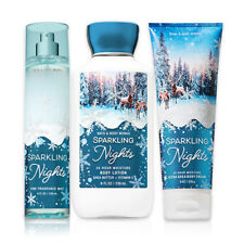 Bath & Body Works Sparkling Nights Body Lotion,Body Cream&Mist Winter Collection