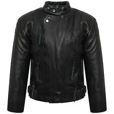Boys/Girls Genuine Leather Motorcycle Limo Kids Biker Jacket (5 To 10 Years)