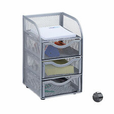 Large Metal Mesh Desk Organizer, Stationery Sorter with Drawers , Office Tray
