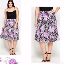 New Purple Summer Holiday Floral Skirt PLUS SIZE 16-28 LOOK be Shop CURVE