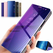 Smart Case For Huawei P20 Pro/Lite 2018 360° Clear View Mirror Flip Stand Cover