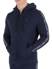 Tommy Hilfiger Men's Zip Logo Tapping Hoodie, Blue