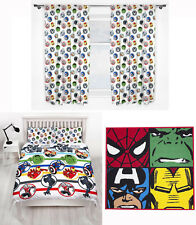 "Marvel Avengers Strong Double Duvet Cover Bedding 66""x54"" Curtains Rug 3 Choices"