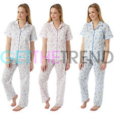 Womens Pyjamas Nightwear Ladies Short Sleeve Floral Summer Clearance Pjs Set