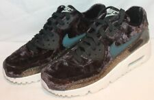 NIKE AIR MAX 90 PINNACLE QS PREMIUM VELVET BLACK JUNIORS GIRL S TRAINER 88f81d898