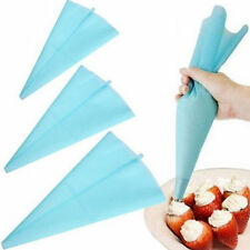 Silicone Reusable Icing Piping Cream Pastry Bag Cake Nozzle Baking Decorating