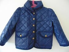 Ralph Lauren Polo Girls Navy Quilted Jacket/Shawl Collar RRP £119 Age 2 & 5