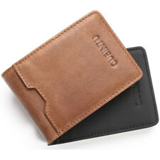 Genuine Leather Passport Cover ID Business Card Holder Travel Credit Wallet UK