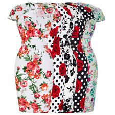 Dress Wiggle Pencil Retro Floral Vintage Party Swing 50s Style Bodycon Ladies