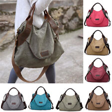 Women's Canvas Handbag Shoulder Bags Large Tote Purse Travel Messenger Bag M