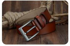 Men Belt Cow Leather Luxury Strap New Fashion Classic Vintage Pin Buckle