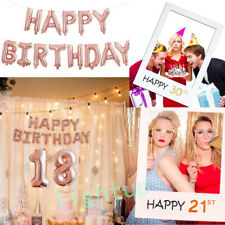 Happy Birthday Party Latex Number Rose Pink Inflatable Balloon/ Boot Props Frame