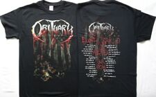 Obituary Inked In Blood America Tour Blood Soaked American Flag with Tour Dates