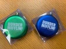dunder mifflin the office christmas ornament disc holiday shatterproof scranton
