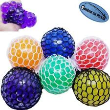 Squishy Mesh Stress Ball Sensory Toy with Squeezy Orbeez Blob Slime Ball and Net