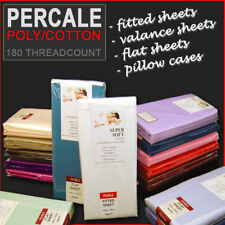 Percale Flat, Fitted, Valance & Pair of Pillow Cases