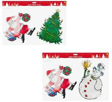 Coloured Ginger Bread, Christmas Santa Gel Window Stickers, Large Window Plaques