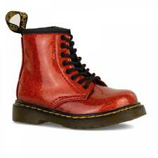 Dr Martens Infants 1460 Glitter Boots (Red)