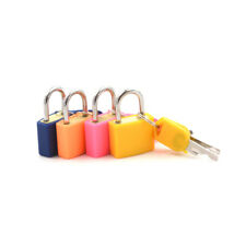 Small Strong Steel Padlock Travel Suitcase Drawer Dormitory Locks With 2 KeyBLUS