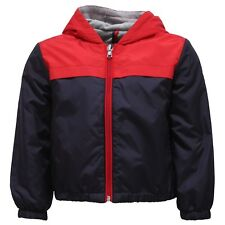 2745Y giacca antivento bimbo boy MONCLER IZON blue/red wind stopper jacket