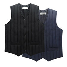 V-neck Waistcoat Jacket Mens Sleeveless Vest Padded Down Coat Quilted Buttons
