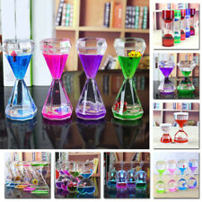 Clock Ornament Timer Oil Hourglass Floating Color Mix Illusion Desk Top Gift G1