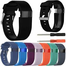 Silicone Strap Wrist Band Classic Buckle for Fitbit Charge HR Activity Tracker