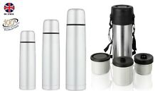 VACUUM THERMOS FLASK STAINLESS STEEL HOT&COLD 1L/500ML/350ML