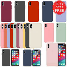 Slim Smooth Liquid Silicone Bumper Case Cover For iPhone XS Max XS XR X 7 8 Plus