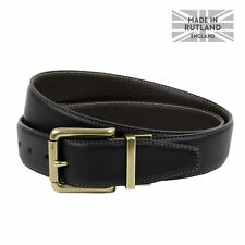 Men's Reversible Casual Jeans Leather Belt, Made in England, 3.5cm strap