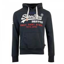 Superdry Mens Sweat Shirt Shop Tri Hoodie (Navy)