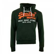 Superdry Mens Sweat Shirt Shop Duo Hoodie (Green)