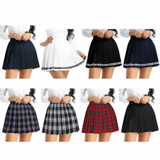 Plus Size Sexy Japanese School Girl Women Tennis Plaid Pleated Mini Skater Skirt
