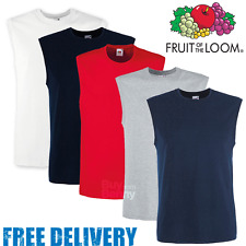 Fruit Of The Loom HOMBRE Camiseta sin Mangas Deportes Gimnasia Smart Fit
