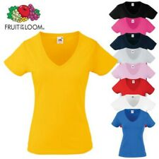 Fruit Of The Loom Mujer Manga Corta Valueweight Camiseta con Cuello en V para