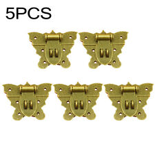5pcs Unique Retro Butterfly Latch Catch Jewelry Wooden Box Chest Lock Hasp Pad
