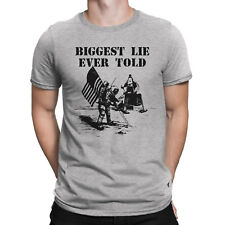 Mens T-Shirt BIGGEST LIE EVER TOLD Man On The Moon Novelty Conspiracy Theory