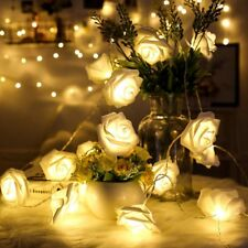 1PC 2M 20LEDS Battery operated LED Rose Flower Lights String Garland Christmas