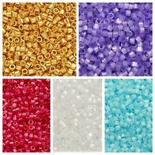 J96//8 Miyuki Delica Seed Beads Size 11//0 Silver Lined Emerald Dyed DB605 7.2g