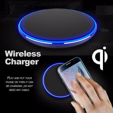 Qi Wireless Charger Fast Charging Slim Pad Mat For iPhone XS X Note 9 S9 S8 Plus