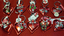 CHRISTMAS KEY RINGS WITH HEARTS