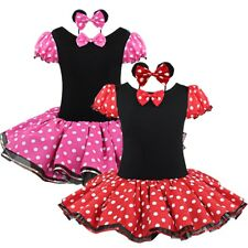 Girls Kids Polka Dots Tutu Tulle Skirt Party Mini Dress Child Halloween Costume