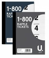Raffle Tickets 1-800 Numbered Bingo Game Book Competition Black/Blue